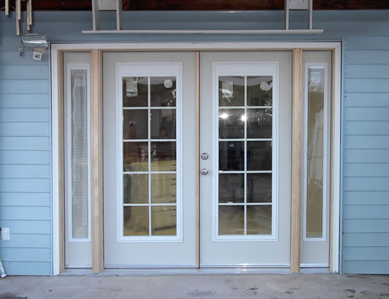 Exquisite installations photo gallery for Double entry patio doors